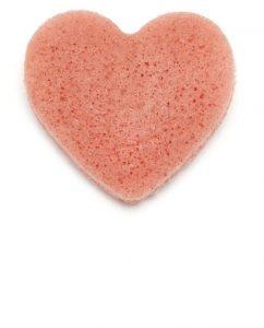 Konjac gobica v obliki srčka z dodatkom francoske rožnate gline